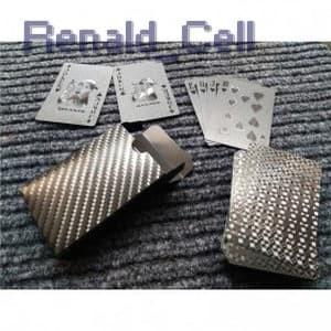 Foto Produk Kartu Poker Remi Plastik Anti Air Waterproof Model 2 K8356 Black dari renald_cell