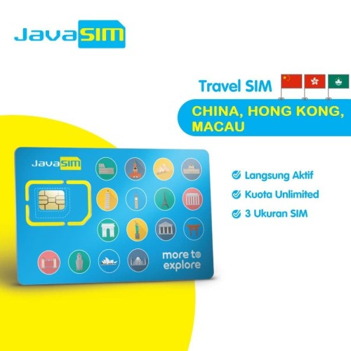 Foto Produk SIM Card China Hongkong Macau Unlimited dari JavaMifi