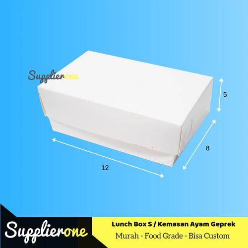 Foto Produk Lunch Box S, Kemasan Ayam Geprek, Box Ayam Geprek, Dus Ayam Geprek dari supplierone