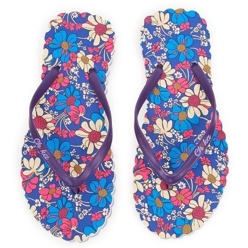 Foto Produk Sandal Kantor Jepit Ch1ka Orchid Biru dari Dinasti Shoes