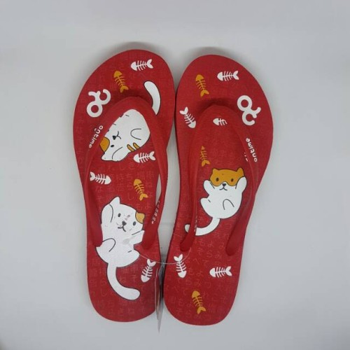 Foto Produk Ontime shiro merah sendal jepit sandal spon karet cewek wanita murah b dari Dinasti Shoes