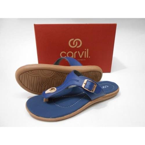 Foto Produk Sandal Casual Carvil Nancy Navy dari Dinasti Shoes