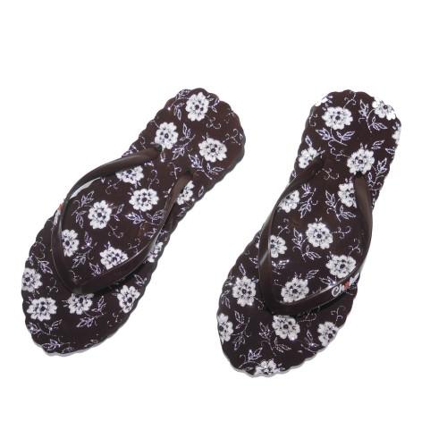 Foto Produk Chika Sandal Jepit Wanita Beludru Motif Bunga New Arrival dari Dinasti Shoes