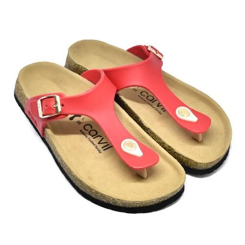Foto Produk Sandal Foobed Wanita Carvil KAYLEE 01L Red dari Dinasti Shoes