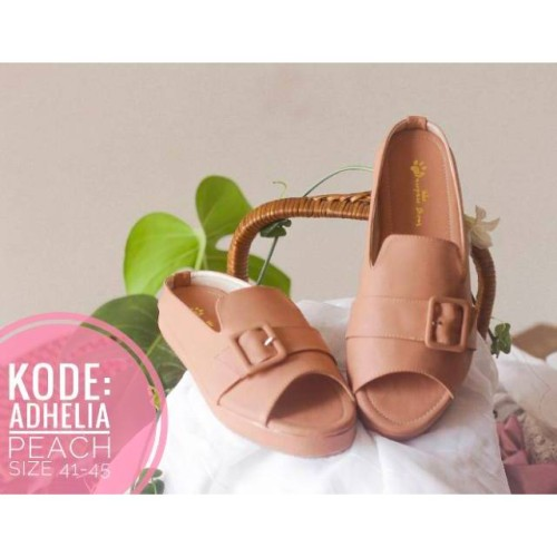 Foto Produk Pawpawshoes sepatu wanita bigsize jumbo kode Adhelia Peach size 41-45 dari Dinasti Shoes