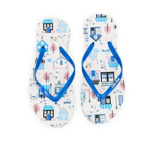 Foto Produk Sandal jepit ch1ka Restaurant Blue Limited Edition dari Dinasti Shoes
