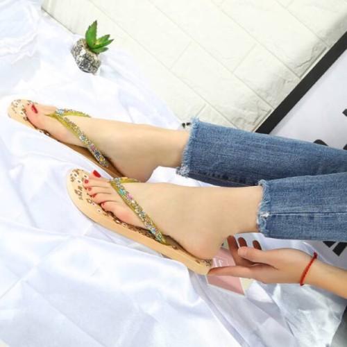 Foto Produk BIG SALE Sandal jepit flat wanita blink-blink dari Dinasti Shoes