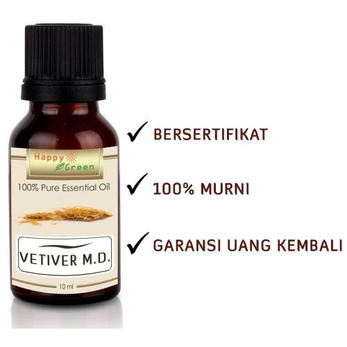 Foto Produk Happy Green Vetiver M.D. Essential Oil (10 ml) -Warna Coklat bkn Hitam dari Happy Green Garden - JKT