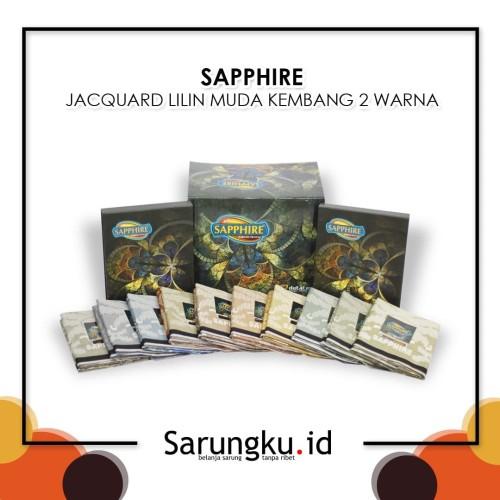 Foto Produk SARUNG SAPPHIRE JACQUARD LILIN MUDA KEMBANG 2 WARNA (JLMK 2W) - Cover dari SarungkuID