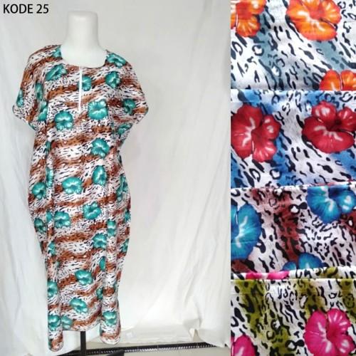 Foto Produk Grosir Daster Midi Jumbo Rayon Busui Zipper Murah Baju Tidur Kode 25 dari Tshirt Kita
