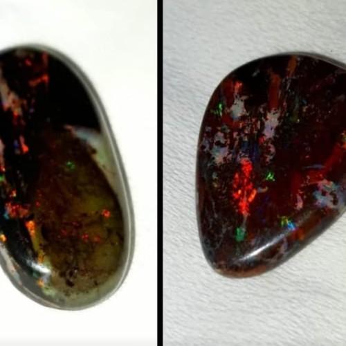 Foto Produk Paket Liontin Black Opal dari Emas Logam Mulia