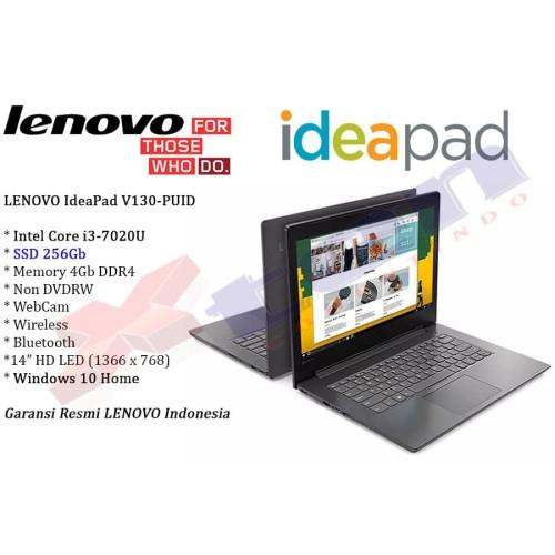 "Foto Produk LENOVO V130-PUID - i3-7020U 4Gb 256Gb SSD Non DVD 14"" Win 10 Home dari XTen Computindo"