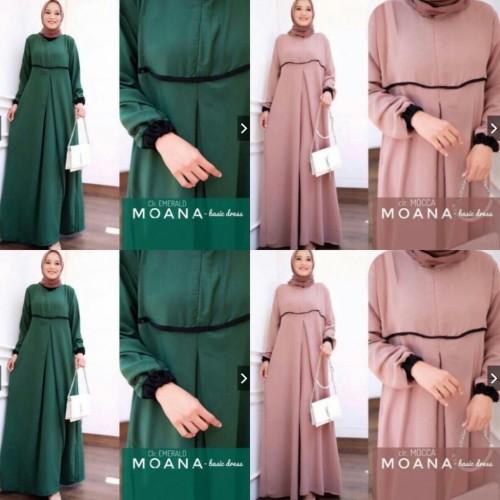 Foto Produk Moana Basic Dress KD25 dari Limnam Store