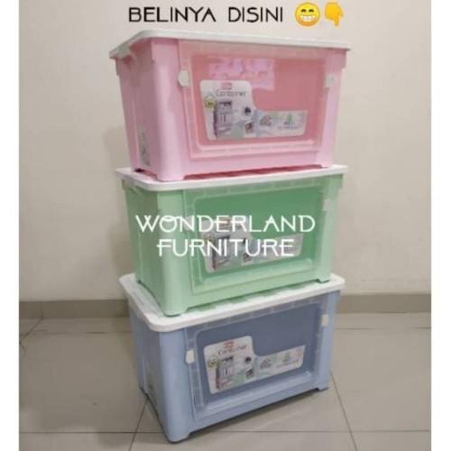 Foto Produk kotak box container kontainer olymplast plastik 62 liter by gojek - Biru dari WONDERLAND FURNITURE