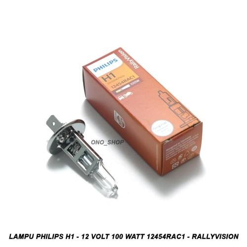 Foto Produk Lampu Philips H1 - 12 Volt 100 Watt 12454RAC1 - RallyVision dari ONO SHOP