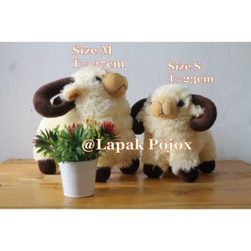 Foto Produk Boneka Domba Tanduk Lucu High Quality - S dari Lapak Pojox
