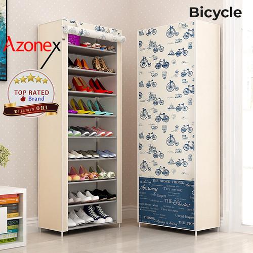 Foto Produk Rak Sepatu Serbaguna 9 Rangka Shoe Rack Portable XG10 - Multicolor - Bicycle dari Azonex