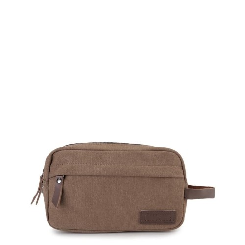 Foto Produk Urban State - Canvas PU Zipper Pouch - Brown dari Urban State