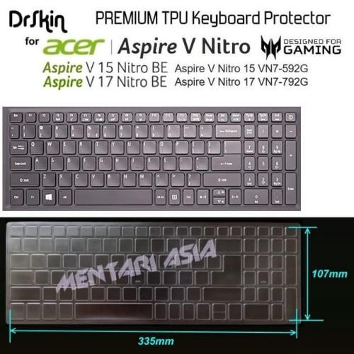 Foto Produk Terpopuler Keyboard Protector Acer Aspire V Nitro 15 Vn7-592G - Drskin dari Markus Sutiono