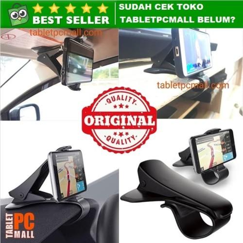 Foto Produk Holder Dashboard Mobil Universal Jepit Best Quality Car Phone Mount - Hitam dari Tablet PC Mall
