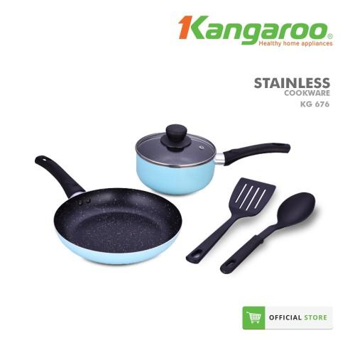 Foto Produk FRYING PAN ALUMINIUM SET/ PENGGORENGAN SET/ WAJAN KANGAROO KG676 dari KANGAROO STORE