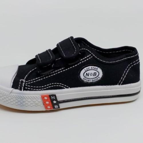 Foto Produk sepatu anak sekolah perekat low hitam putih TK SD SMP import murah - 32 dari Kenzo Toys