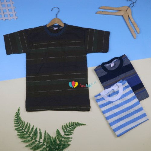Foto Produk Kaos Salur Anak uk 10-12th / Kaos Salur Anak Tanggung Kaos Murah dari Kios Balita Fawa
