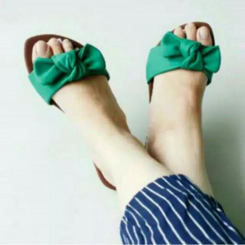 Foto Produk SANDAL FLAT PITA HIJAU dari Dinasti Shoes