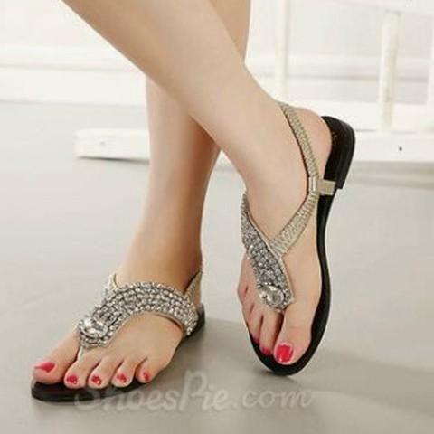 Foto Produk Sepatu Sandal Flat Mutiara SM01 dari Dinasti Shoes