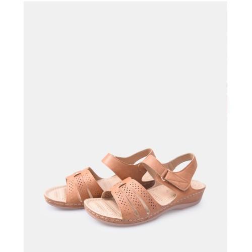 Foto Produk Fleurette Sandal Wanita 0470 Camel dari Dinasti Shoes