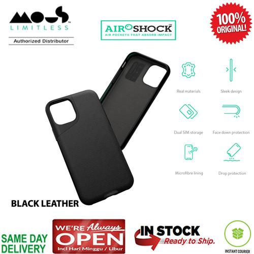 Foto Produk iPhone 11 / 11 Pro / 11 Pro Max Case Mous Contour (RealLeather) - Black, iPhone 11 Pro dari Primary Original