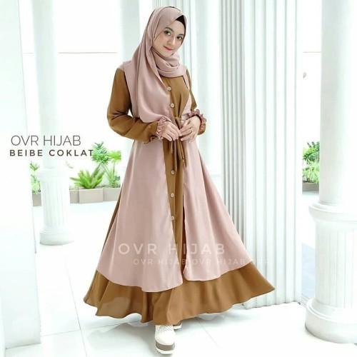 Foto Produk Baju Gamis Syari Set Khimar Beibe Syari Set Terbaru dari hijabafwa