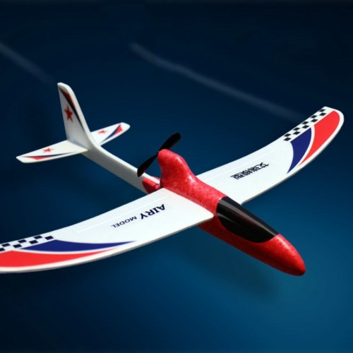 Foto Produk Mainan RC Pesawat Terbang Lempar Elektrik DIY untuk Edukasi Anak dari Random Shop B