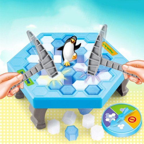 Foto Produk Mainan Meja Pukul Balok Es Menyelamatkan Kartun Pinguin untuk Bayi Ana dari Random Shop B