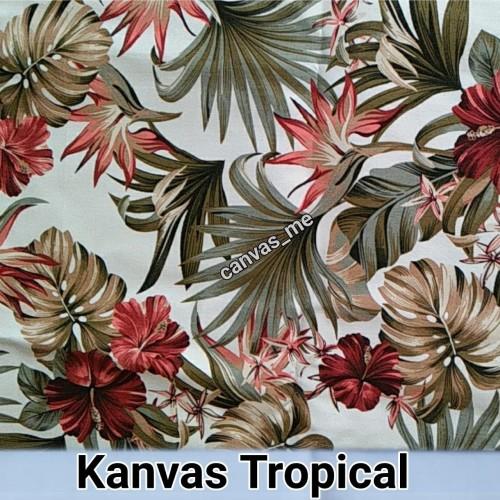 Foto Produk Kain Kanvas Motif Tropical 50x150cm (PxL) dari canvas_me