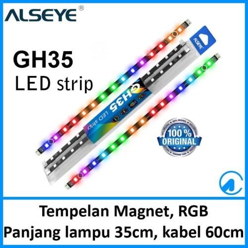Foto Produk Alseye GH35 RGB LED 2 Strip Magnetic Light for Casing PC dari Artica Computer