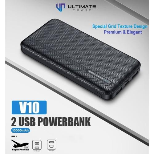 Foto Produk PROMO Ultimate Power 2USB Powerbank 10000mAh V10 Garansi Resmi dari Ultimate Power Official