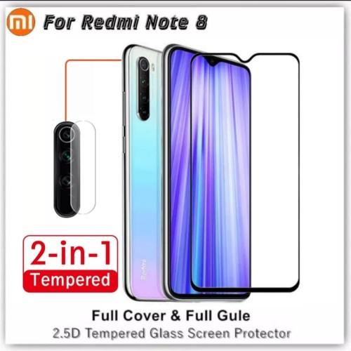 Foto Produk Tempered Glass Xiaomi Redmi Note 8 Anti Gores Kaca Redmi Note 8 - Hitam dari RomanAcc
