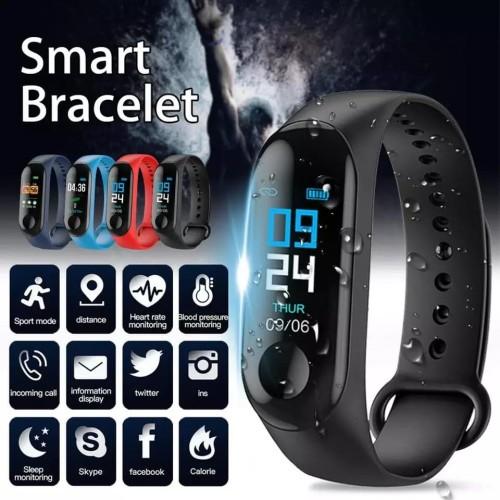 Foto Produk Jam M3 Smartband Waterproof Smart Watch Smart Band - Hitam dari Laku9
