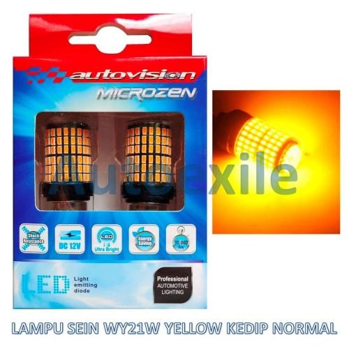 Foto Produk Autovision Microzen LED T20 WY21W 7440 Kuning Lampu Sein Kedip Normal dari Autoexile