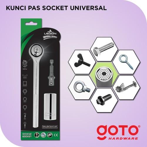 Foto Produk Kunci Pas Socket Universal Gator Grip Soket Sok Wrench Ring Pas Bolt dari GOTO Hardware