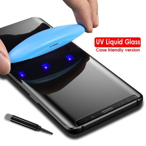 Foto Produk SAMSUNG GALAXY NOTE 9 UV TEMPERED GLASS FULL COVER GLUE ANTI GORES dari ROTI PANGGANG OnlineShop