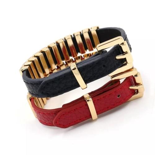 Foto Produk Gelang Leather Bracelets - Hitam dari kaladia