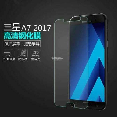 Foto Produk Tempered Glass Samsung A7 2017 Anti Gores Kaca dari mimititi.acc