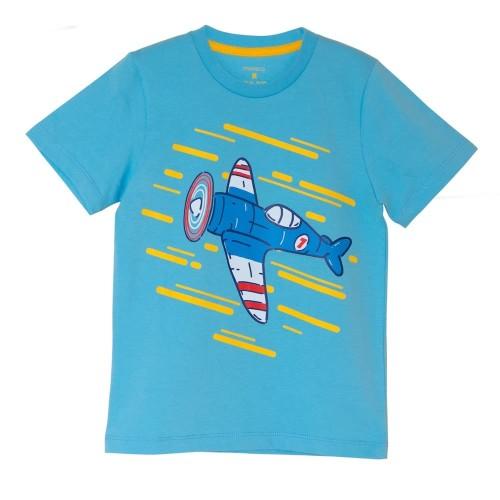 Foto Produk Moosca Kidswear Spitfire T-Shirt | Kaos Anak | Blue - L dari Moosca Kidswear