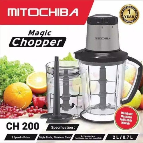 Foto Produk chopper blender MITOCHIBA CH200 - 6 mata pisau - penghalus daging & es dari sini grosir