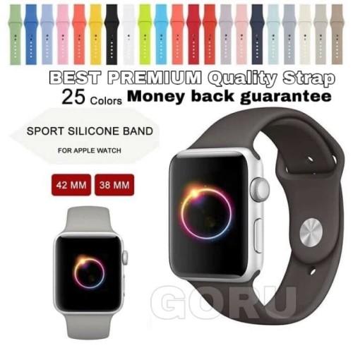 Foto Produk Strap Apple watch sport for iwatch series 5 4 3 2 rubber 38 40 42 44mm dari goru