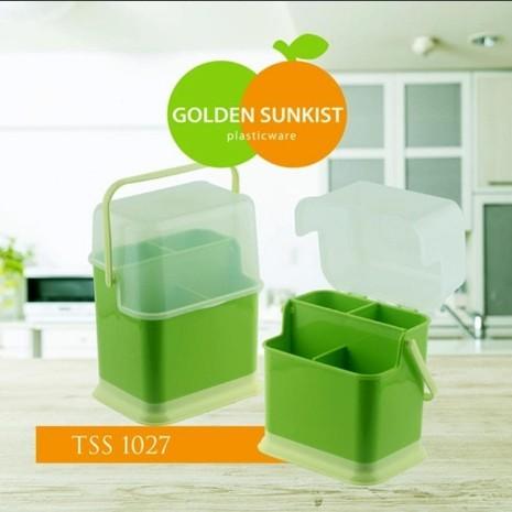 Foto Produk Tempat Sendok Dan Garpu Golden Sunkist- ungu dari afaan