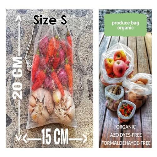 Foto Produk Organic Produce Bag Reusable Bag Tas Reusable Size S dari Toko Brukat