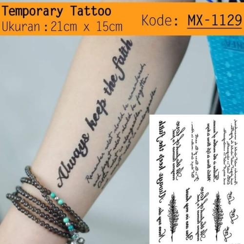 Foto Produk QC-809 TATO TEMPORER / Temporary Tatoo sticker tulisan Word love dari Bolapedia